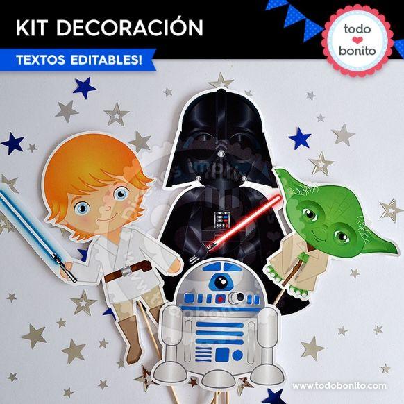 Star Wars: decoración de fiesta para imprimir   Star Wars ...