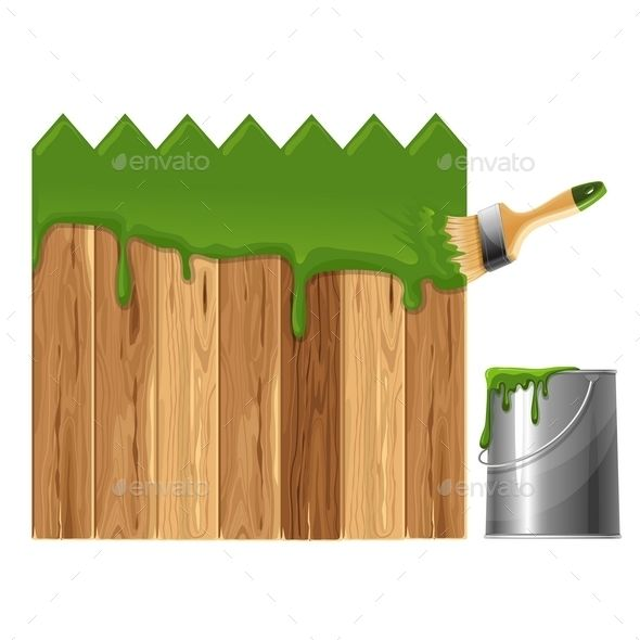 Painted Wooden Fence Wooden fences and Graphics