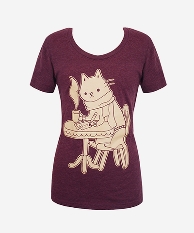 Coffee Shop Cat Tshirt Hey Chickadee. soo cute! Kitty