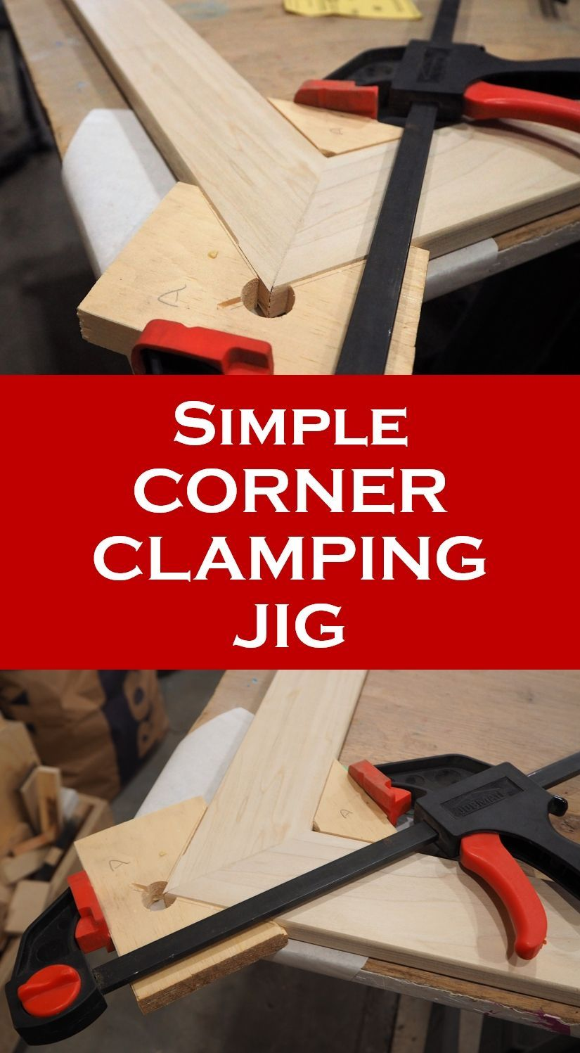 simple corner clamping jig diy montreal bricolage outillage menuiserie travail du bois et. Black Bedroom Furniture Sets. Home Design Ideas