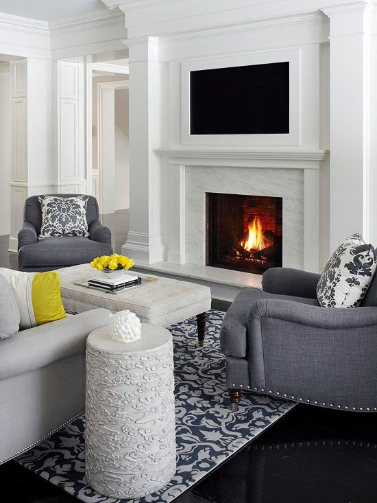 Living Room Decorating And Design Home Decor Tv Over Fireplace Fireplace Design