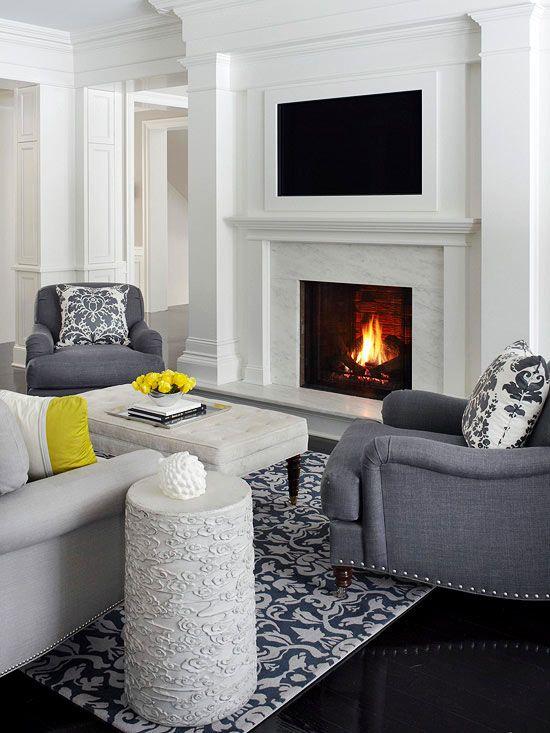 TVs Over Fireplaces | Living Roomm | Pinterest | Tv over ...