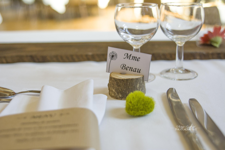 Porte Nom Pour Decoration Table Mariage Realise Par Mes Soins En Bois Avec Fente Pour Etiquett Deco Coeur Decoration Table Mariage Marque Place Rondin De Bois