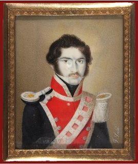 Guardias de Corps o Escolta Real 1840 Teniente