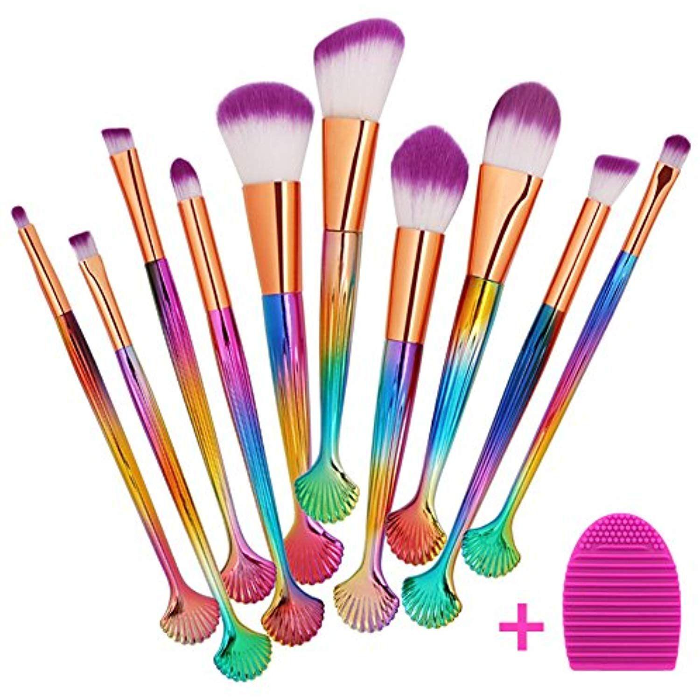 Ecodaily Makeup Brushes 10 Pieces Makeup Brush Set