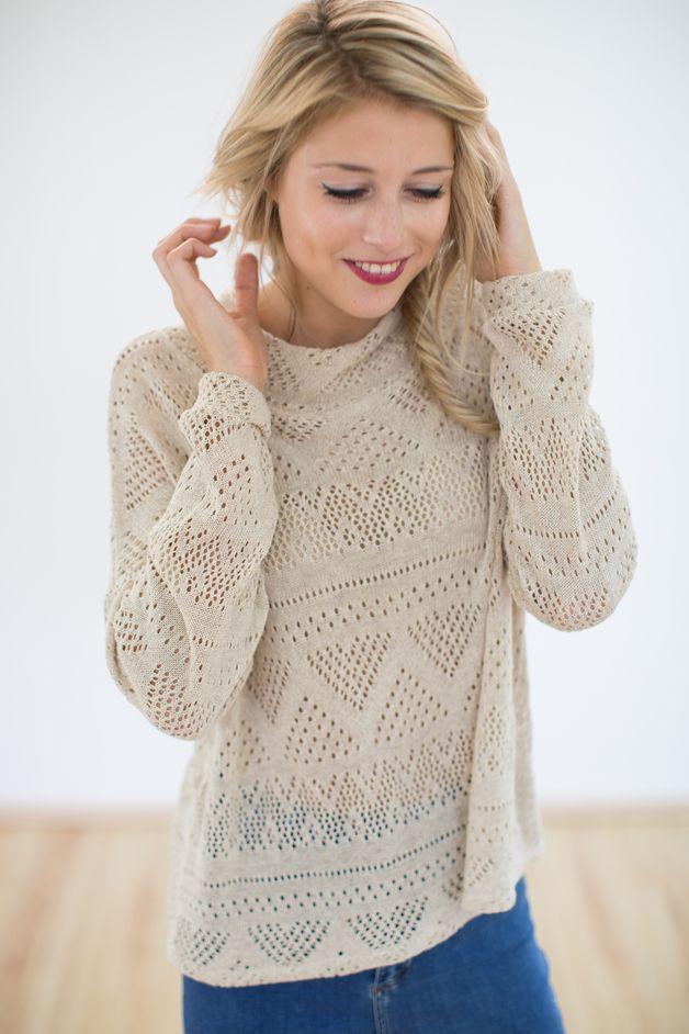 Pullover Zoey in beige   Pinterest   Modelo