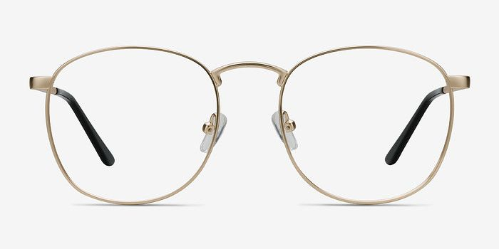 1186e2c4b90f8 St Michel Golden Metal Eyeglasses from EyeBuyDirect. A fashionable frame  with great quality and an