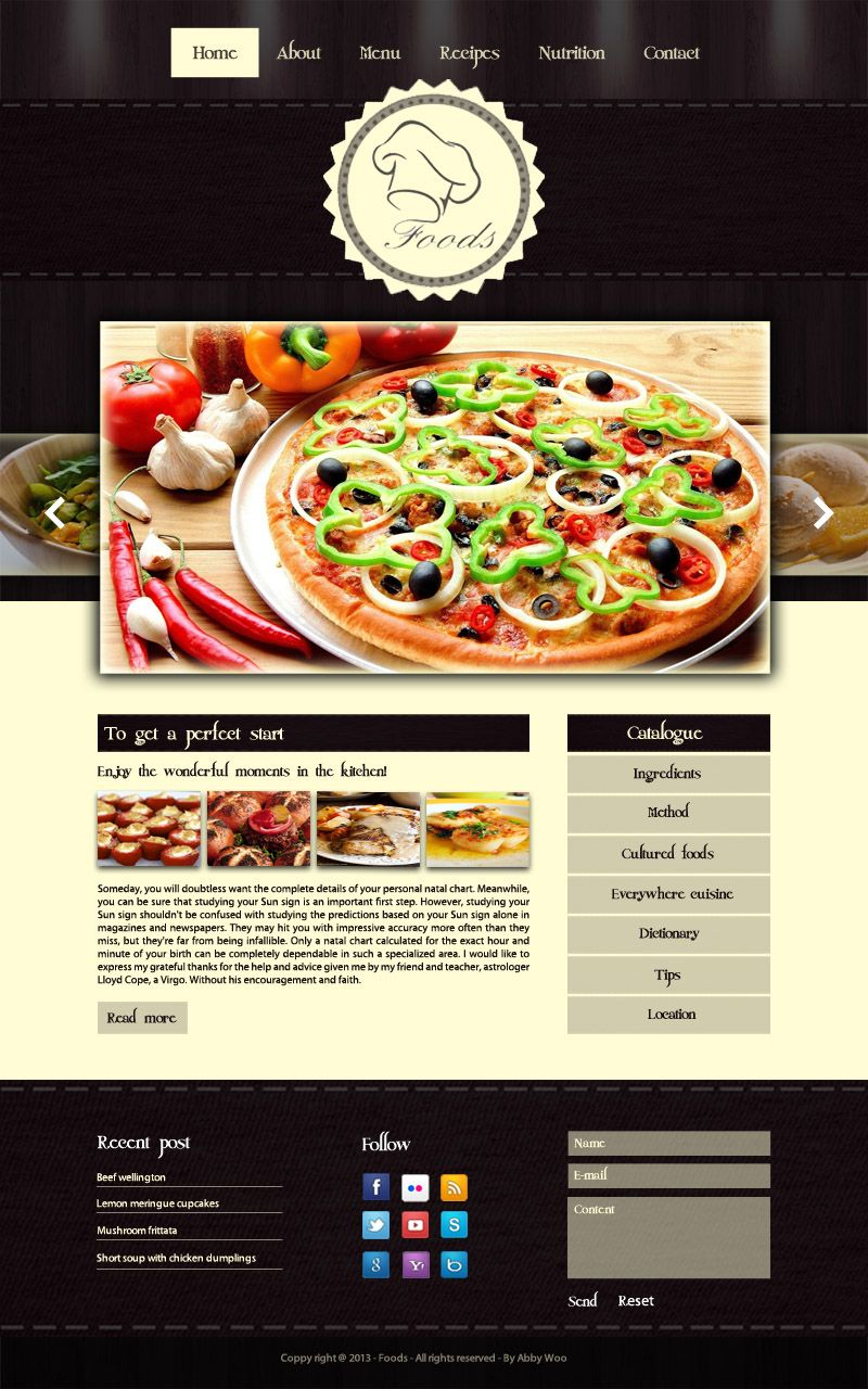 Layout home page cooking website some of my design works layout home page cooking website forumfinder Images