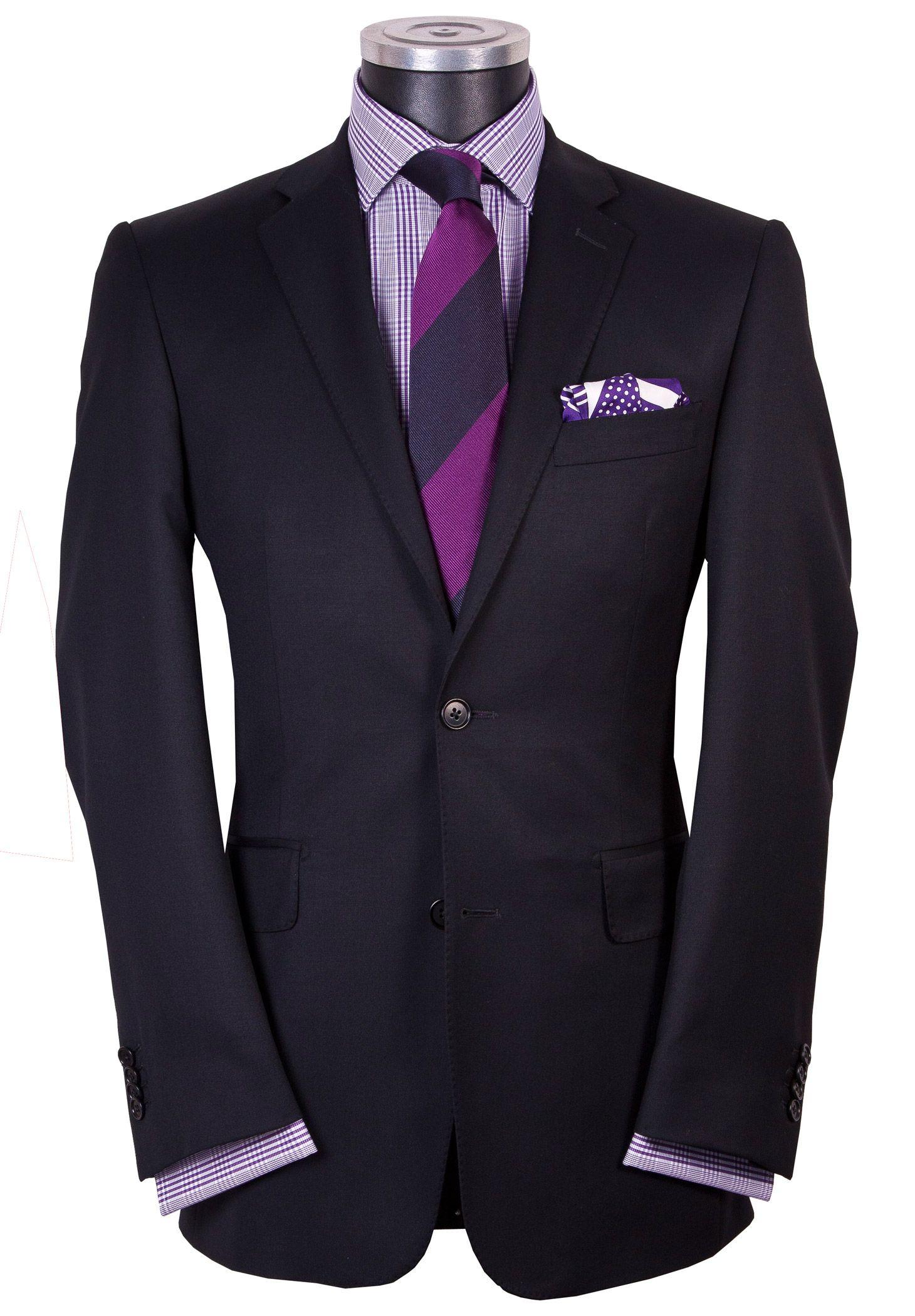 Super 120 s Black Modern Twill slim silhouette suit  0d8f2108eb