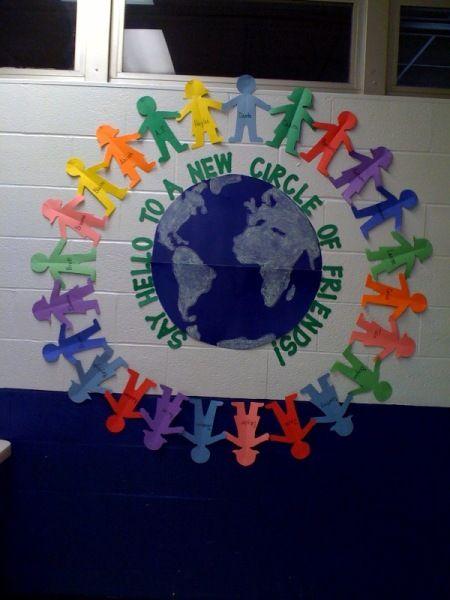 hello circle | Día de La Paz | Pinterest | Klassenzimmer, Schule und ...