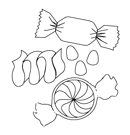 a small packet of sweet candy coloring pages cookie coloring pages kidsdrawing free