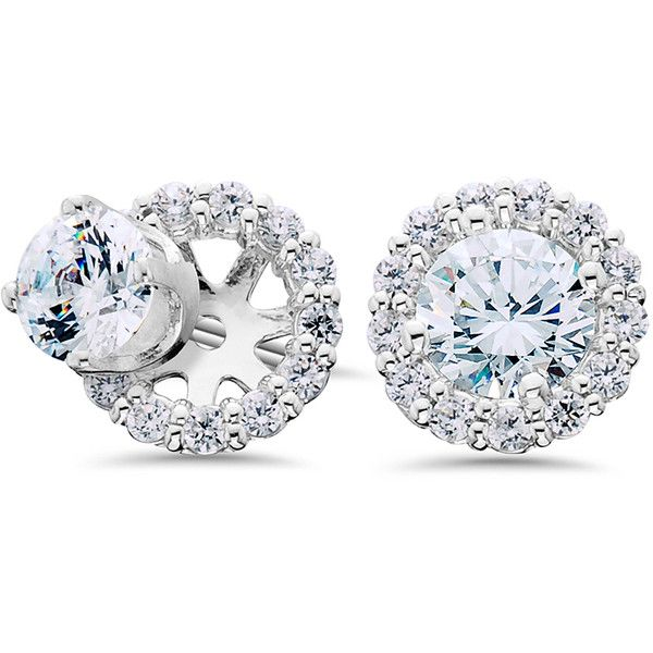 75ct Diamond Studs Earring 430 Liked On Polyvore Featuring Jewelry