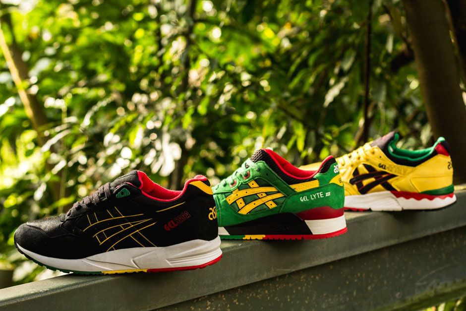 """IS ASICS CELEBRATING 4 20 WITH THIS """"RASTA"""" PACK 1"""