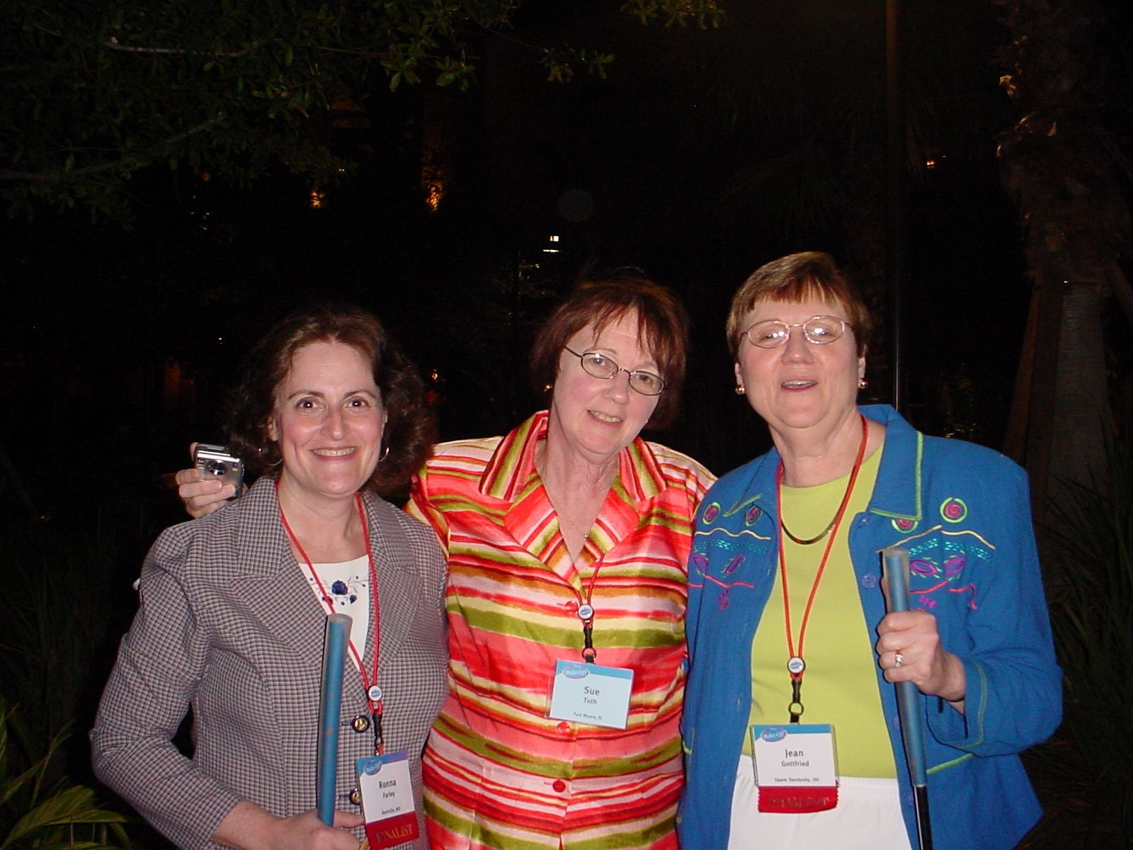 Ronna Farley, S Toth and Jean Gottfried.  2006 Pillsbury bake-off.