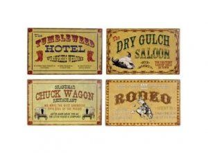 Amazon.com: Metal Tin Sign 8x10 From Photos Old West Stagecoach ...