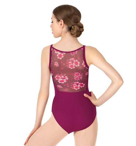 Custom Floral Low Back Ballet Leotard