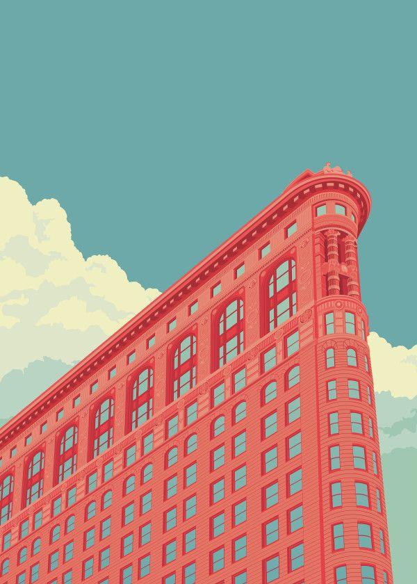 'Flatiron Building NYC' Poster Print by Remko Heemskerk | Displate