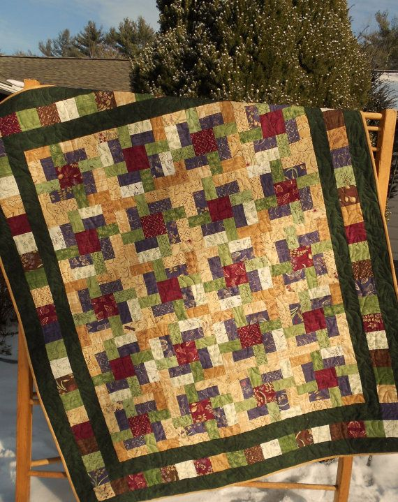 Quilt Pattern - The Woodsmen's Puzzle - Baby to King Sizes - Easy Layer Cake Pattern on Etsy, $9.00