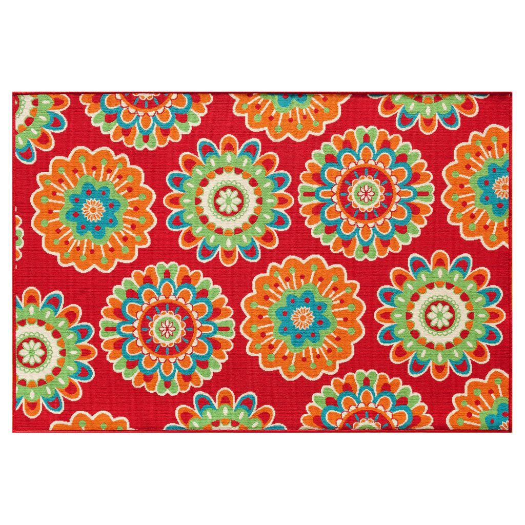 Your Patio Is Sure To Pop With This Celebrate Summer Fl Medallion Indoor And Outdoor Rug