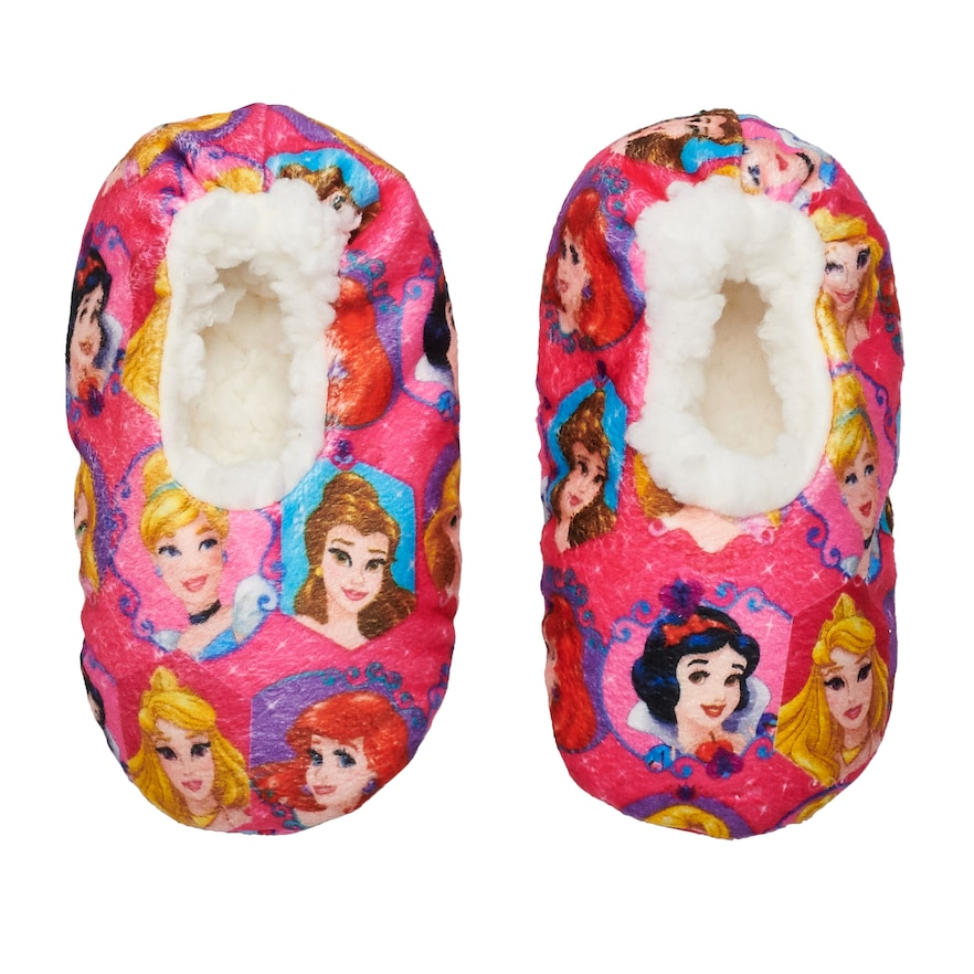 Girls Slipper Socks with Princess Detail.