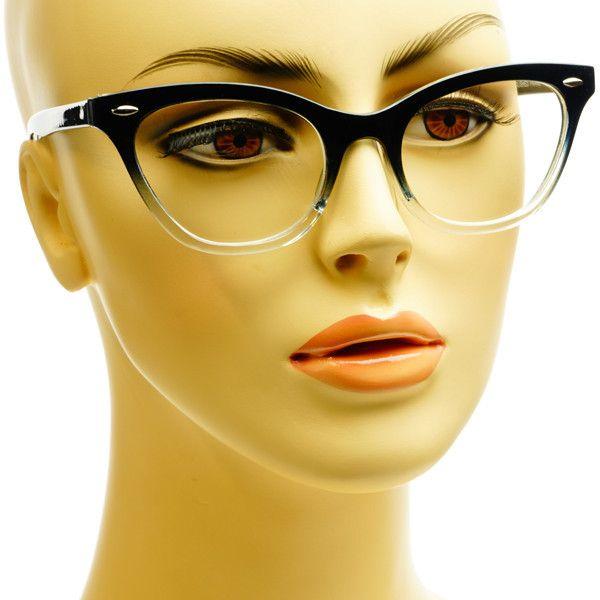 Half Tinted Clear Lens Designer Retro Cat Eye Glasses Frames C38 – FREYRS - Beautifully designed, cheap sunglasses for men & women