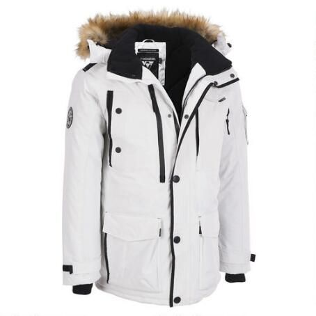 Noize 3/4 Length Hooded Winter Parka w/ Faux Fur Accents $319.99 ...
