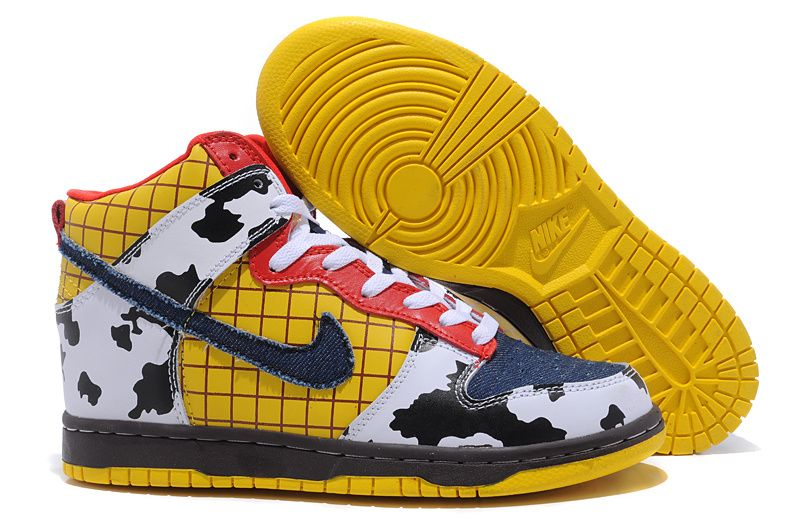 new concept 4c4ec 5e5a7 Toy Story Woody Nike Dunk Custom High Top Shoes, Nike Dunk High Tops, Toy  Story Woody Nike Dunk, High Top Nike Dunk
