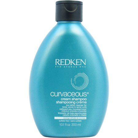 Curvaceous Cream Shampoo by RedKen for Unisex, 10.1 oz, Brown
