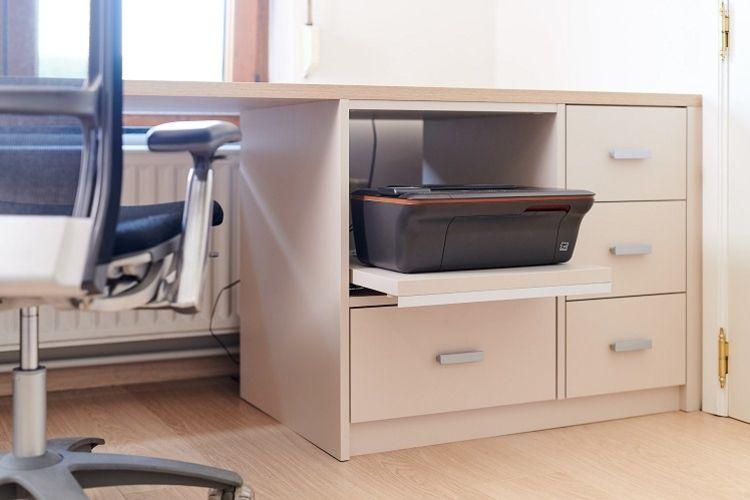 Rangement Imprimante Astuce Home Organising Sur Mesure Camber Bureau Rangement Imprimante Meuble Imprimante Rangement