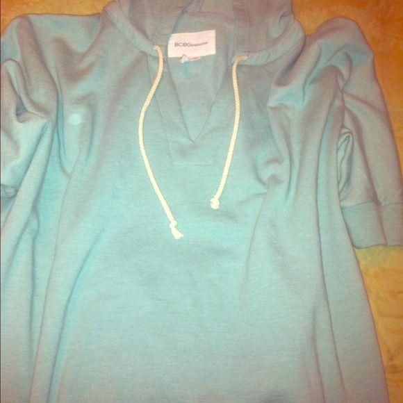 🎀 BCBGeneration short sleeve sweatshirt. Mint green BCBGENERATION short sleeve sweatshirt. Never been worn. BCBGeneration Tops Sweatshirts & Hoodies