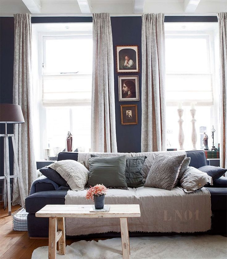 10 Stunning Grey & Navy Living Rooms You Will Adore # ...