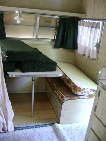 1968 Shasta Airflyte  I Like The Wood Paneling On The Wall. Website Has A