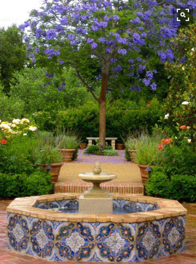 Spanish tiles reclaimed Andalusian tiles and garden | FOUNTAINS ...
