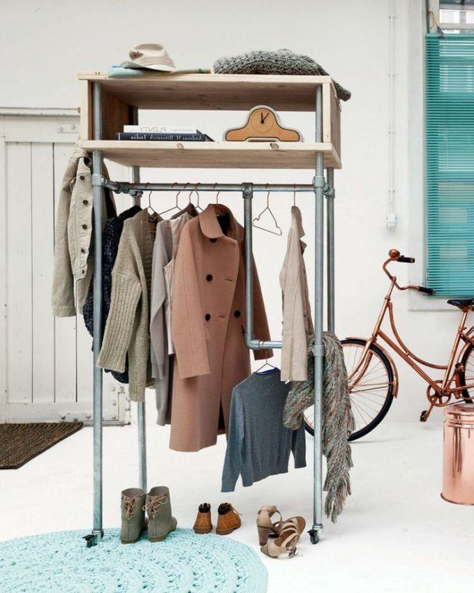 DIY u2013 garderobe opbevaring af rør (Bettina Holst Blog) Room - diy garderobe