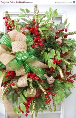 Deco Mesh Christmas Wreath by MrsDoctorK Crafts Pinterest