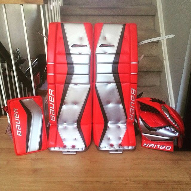 Bauer Reactor 9000 setup  | tendy pillows | Goalie gear, Goalie pads