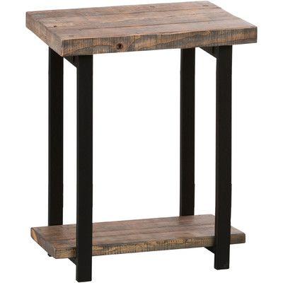 Strange Loon Peak Somers Reclaimed Wood Metal End Table Rustic End Ibusinesslaw Wood Chair Design Ideas Ibusinesslaworg