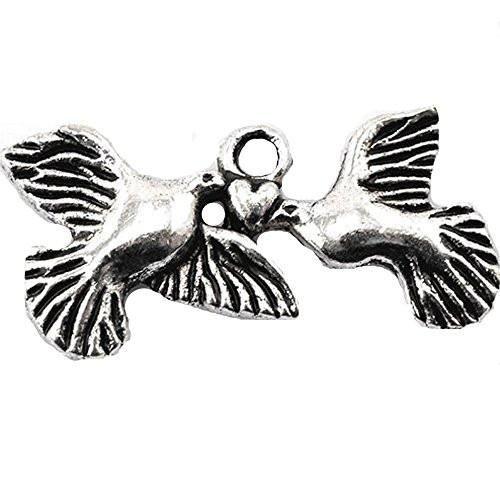 Birds Heart Bracelet Necklace Charm Pendant