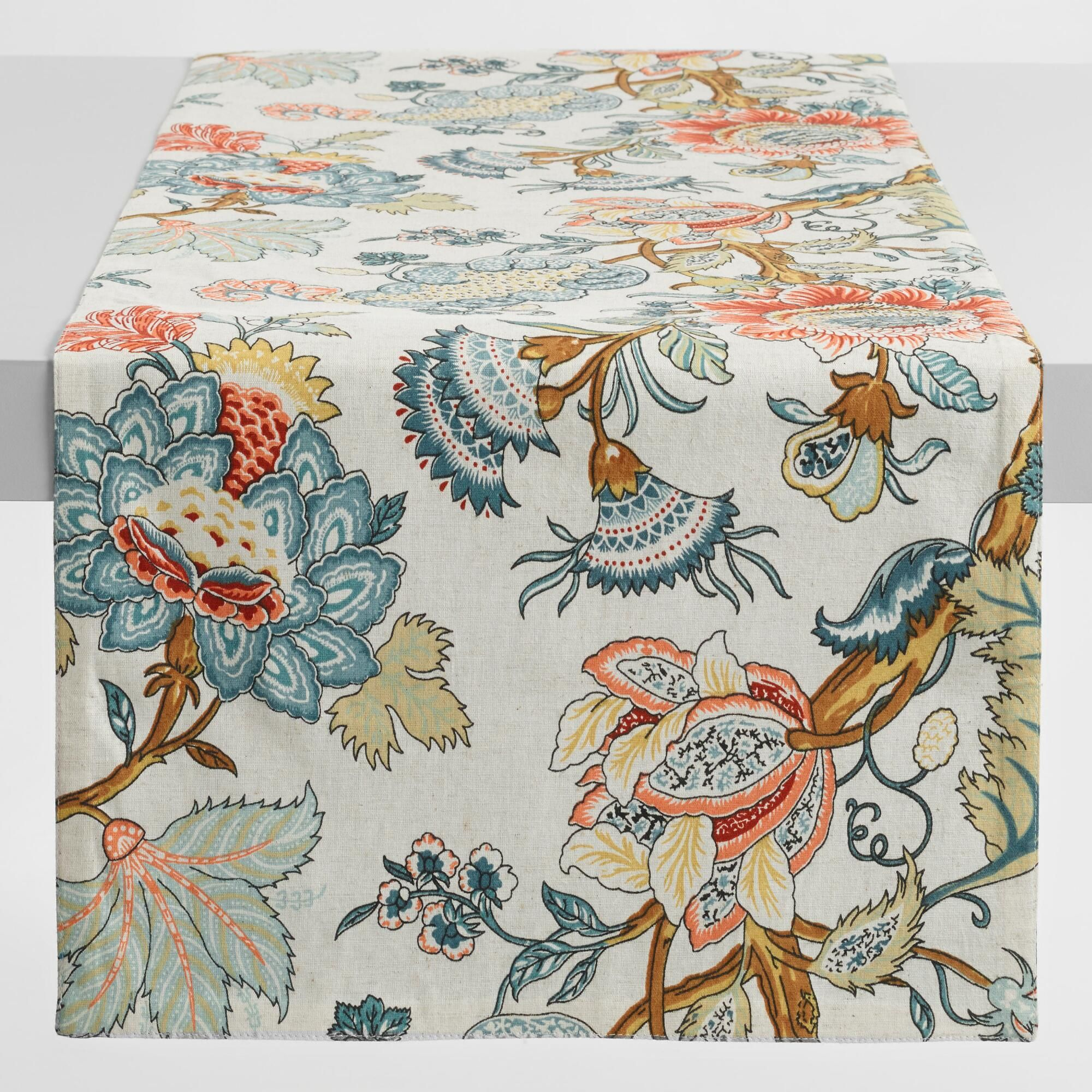 Blue Palampore Anika Table Runner Beautiful Bedding Table Runners
