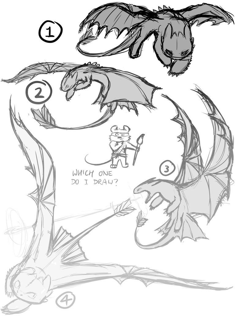 Toothless Sketches by An0nym0useArt on DeviantArt | chimuelo ...
