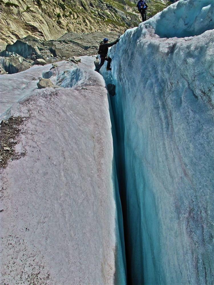 İki Buz Kayası Arası Yarık