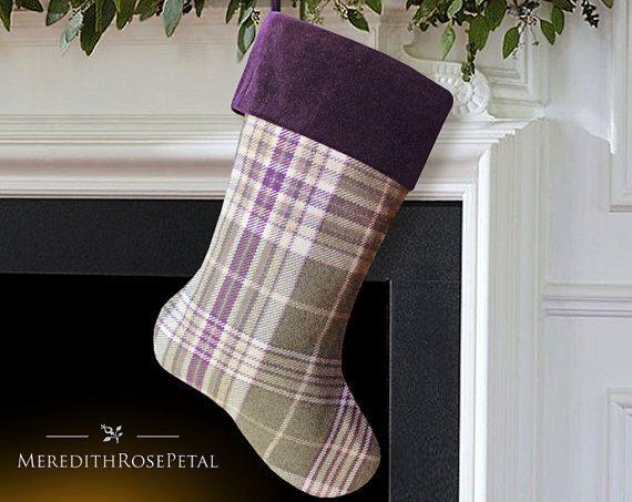 purple christmas stocking purple stocking by meredithrosepetal - Purple Christmas Stocking
