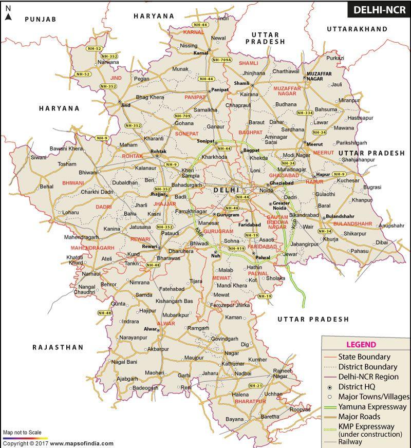 Delhi National Capital Region Map