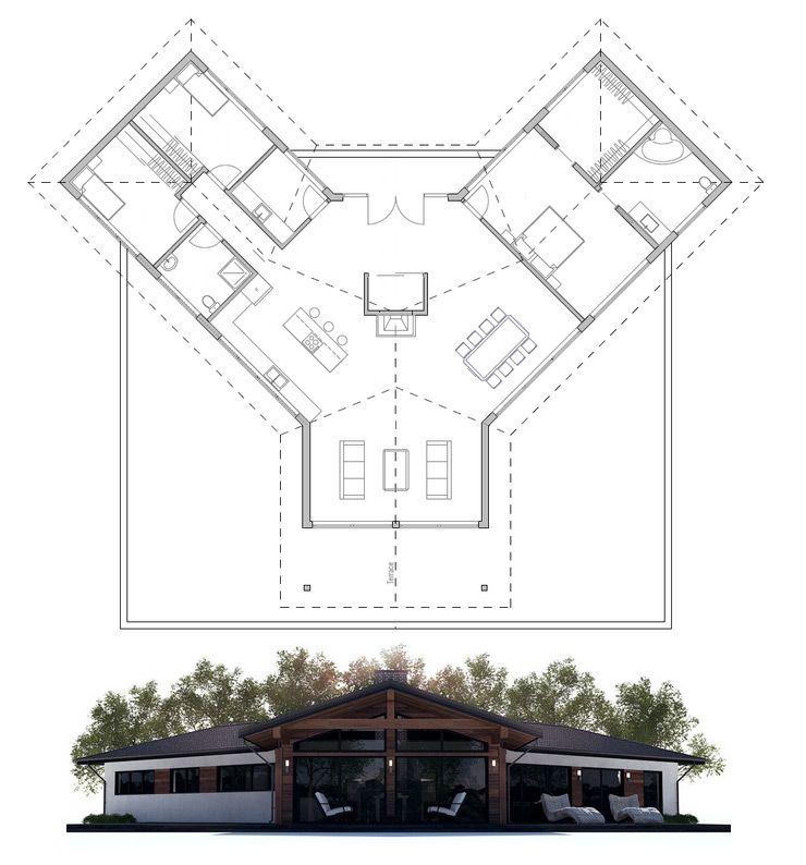 Plan De Petite Maison   Pinteres