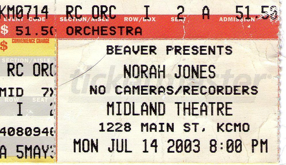 Norah Jones - 2003 - Midland Theatre - Kansas City, MO