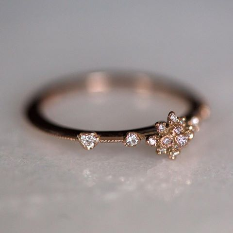 New flora from Kataoka, the White Lotus Flower Ring. Now at Catbird and catbirdnyc.com.