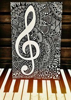 Black and White Melody | Etsy