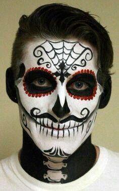 el calavera  face painting halloween bold halloween