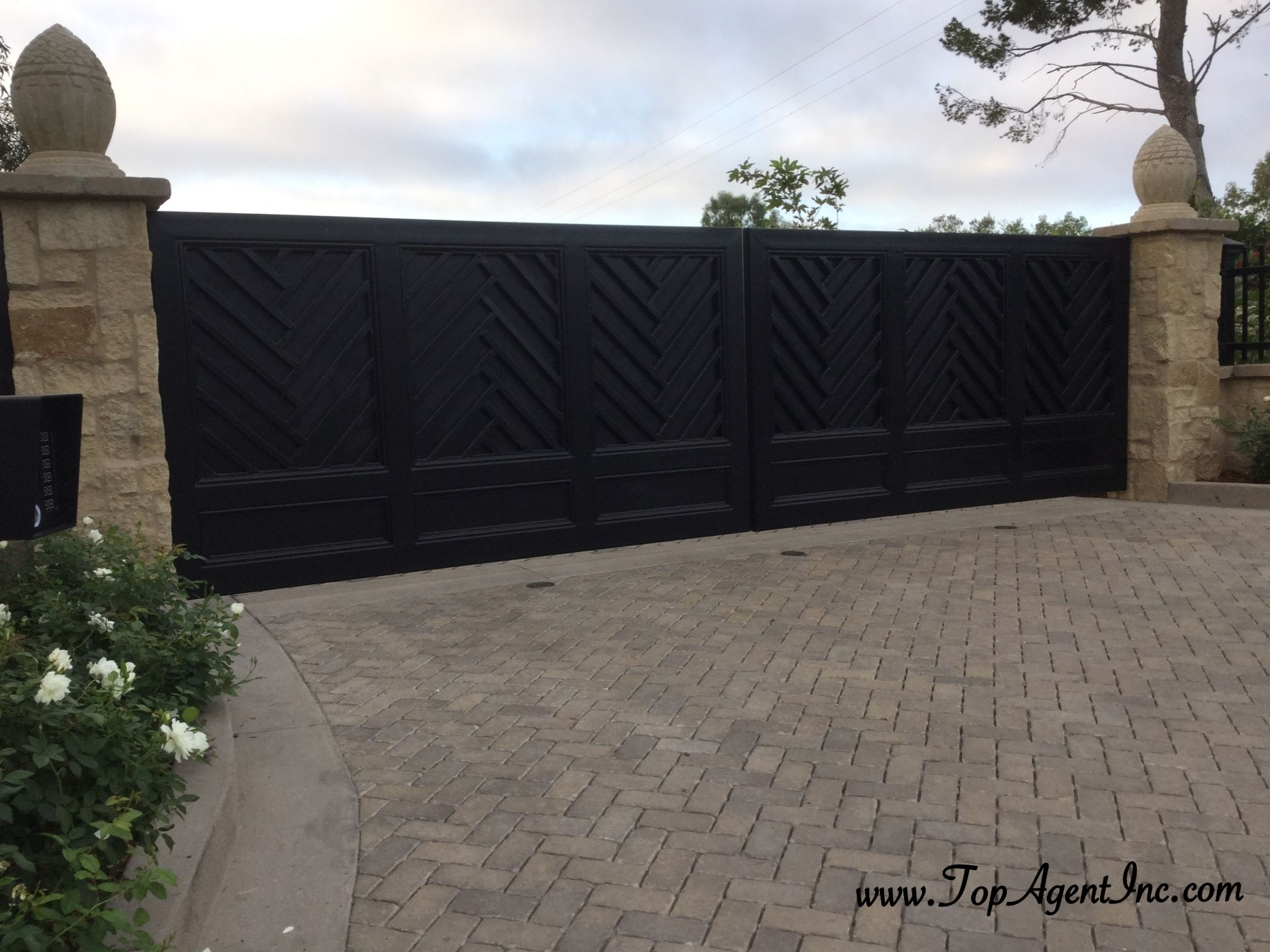 Solid Black Metal Privacy Gates Iron Fence Gate Metal Driveway Gates Metal Fence Gates