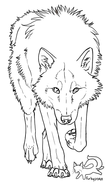 Photo of Wolf lineart – free to use by furbyprince on DeviantArt